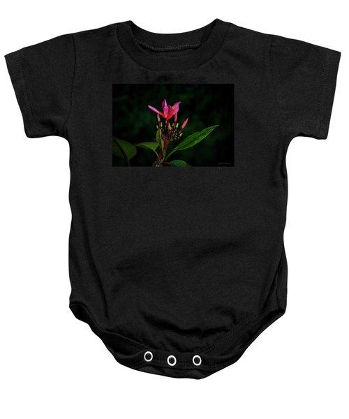 Red Plumeria Baby Onesie