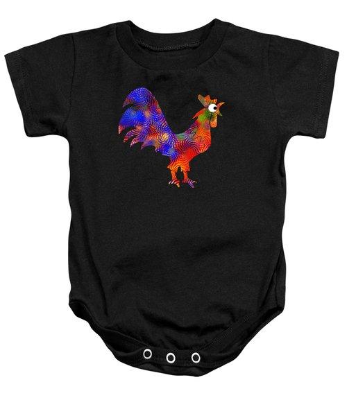 Red Rooster Art Baby Onesie