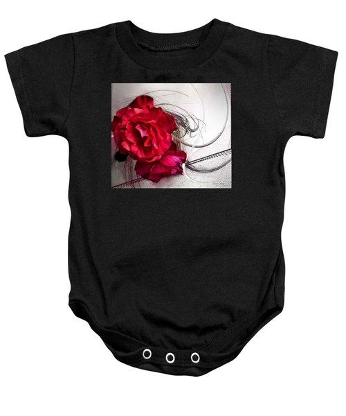 Red Roses Baby Onesie
