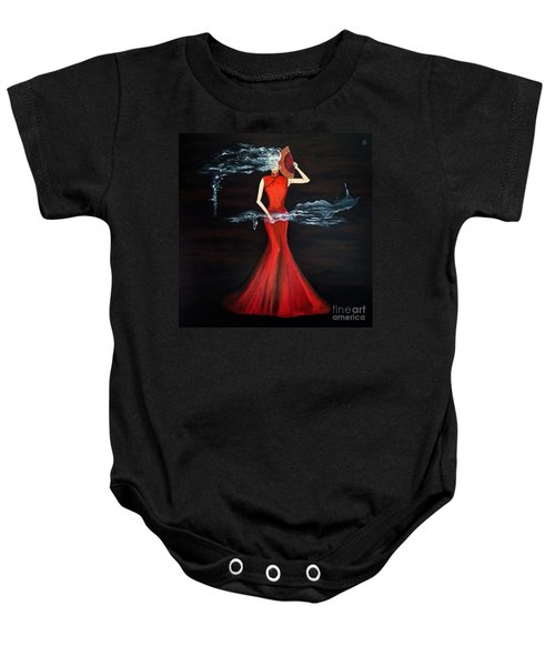 Scented Red Color Baby Onesie