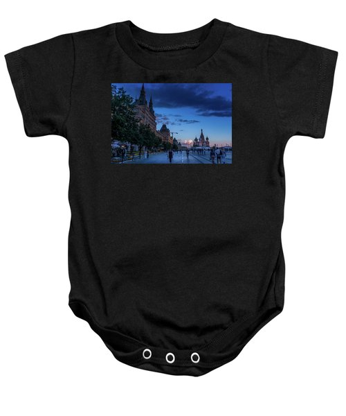 Red Square At Dusk Baby Onesie