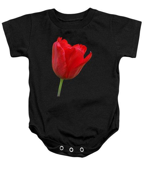 Red Tulip Open Baby Onesie by Gill Billington