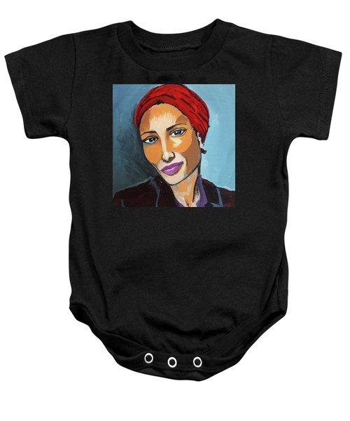 Red Turban Baby Onesie