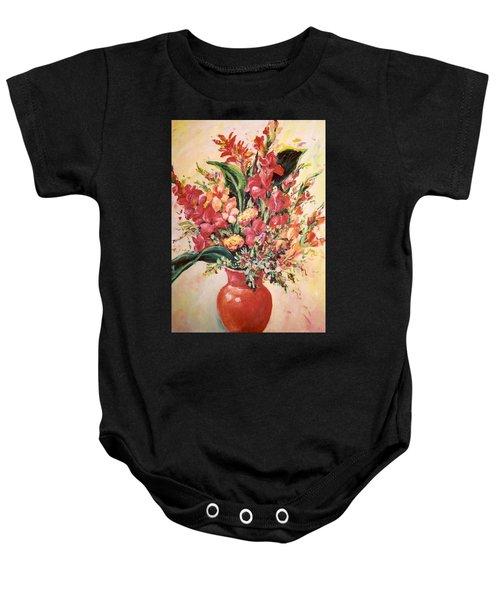 Red Vase Baby Onesie