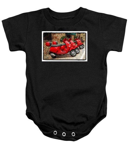 Red Vespas Baby Onesie