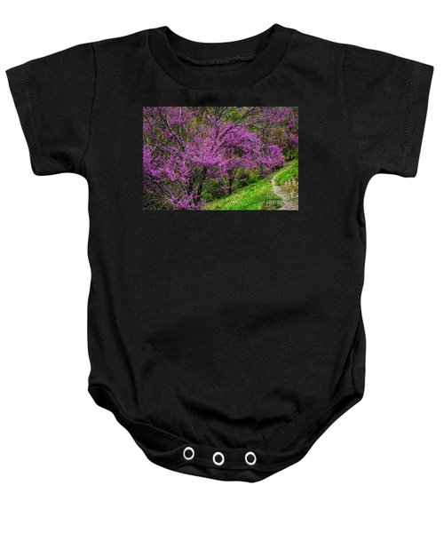 Redbud And Path Baby Onesie