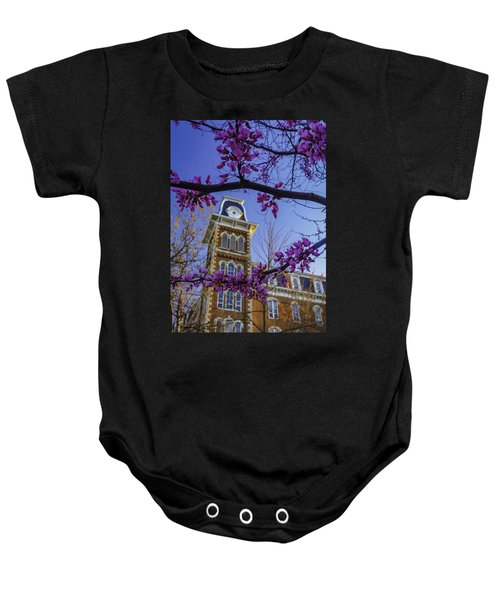Redbud At Old Main Baby Onesie by Damon Shaw