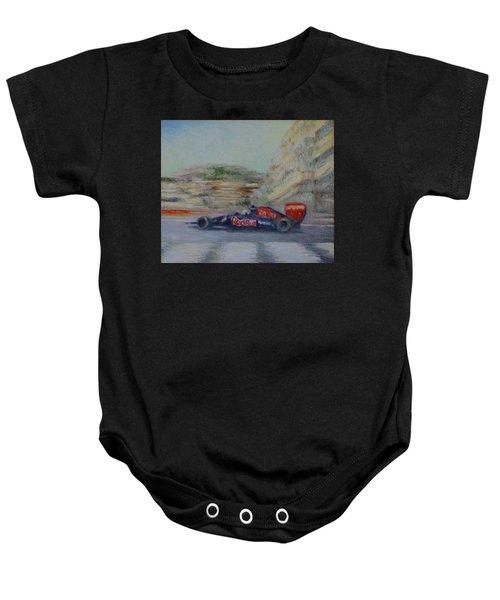 Redbull Racing Car Monaco  Baby Onesie