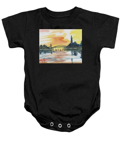 Reflecting Bridge Baby Onesie
