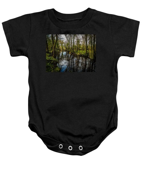 Baby Onesie featuring the photograph Reflections At Yeats Thoor Ballylee by James Truett