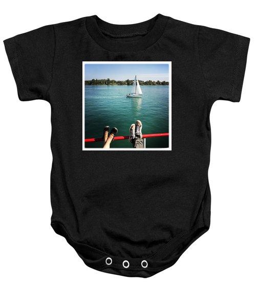 Relaxing Summer Boat Trip Baby Onesie