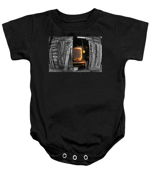 Baby Onesie featuring the photograph Relic From Past Times by Heiko Koehrer-Wagner
