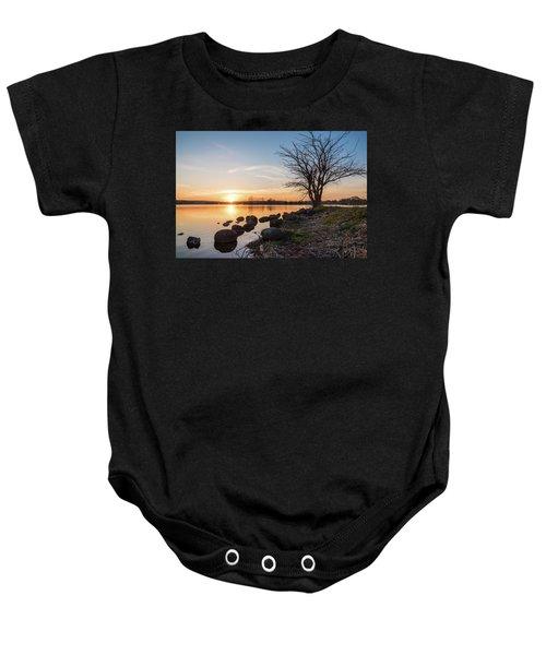 Reservoir Sunset Baby Onesie