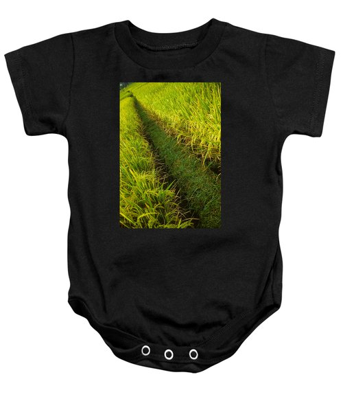 Rice Field Hiking Baby Onesie