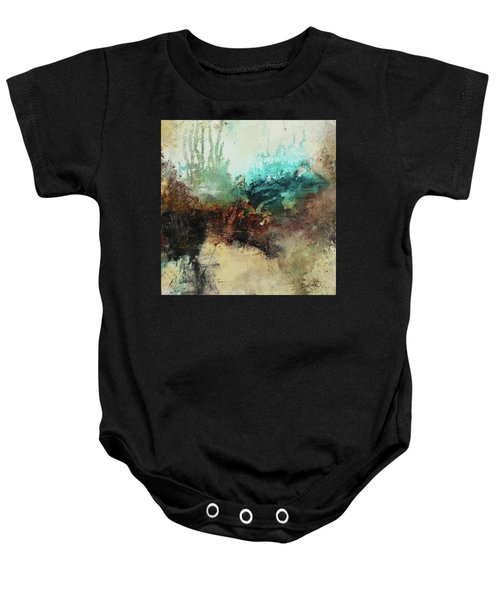 Rich Earth Tones Abstract Not For The Faint Of Heart Baby Onesie