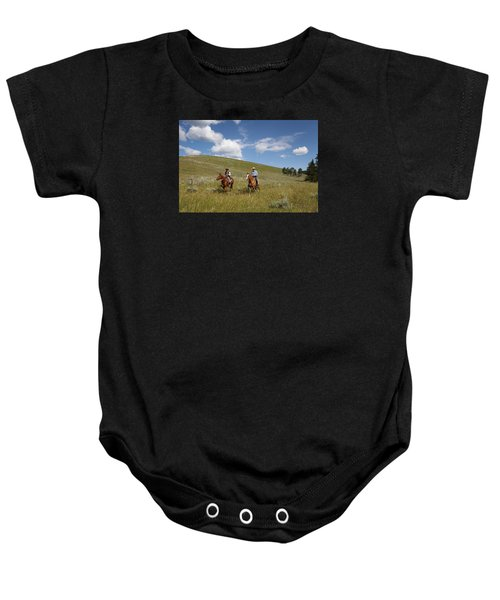 Riding Fences Baby Onesie