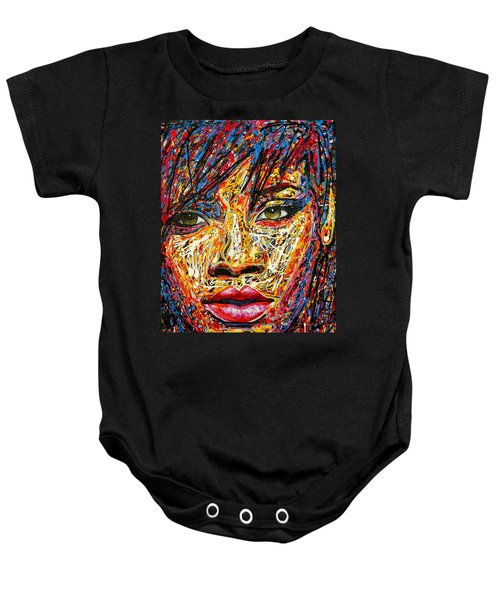 Rihanna Baby Onesie by Angie Wright