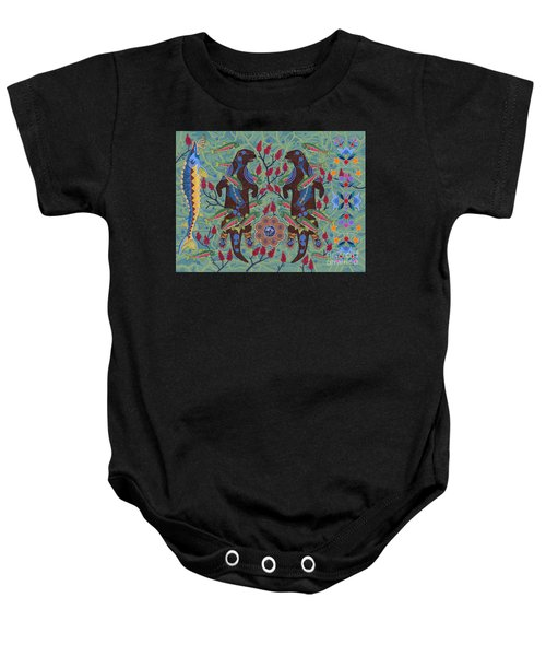 Baby Onesie featuring the painting River Spirit by Chholing Taha