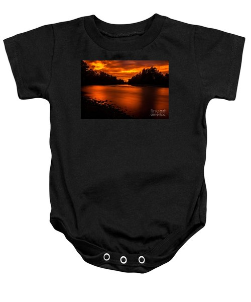 River Sunset 2 Baby Onesie