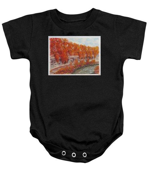 River Tiber In Fall Baby Onesie