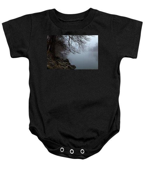 Riverbank In The Fog Baby Onesie