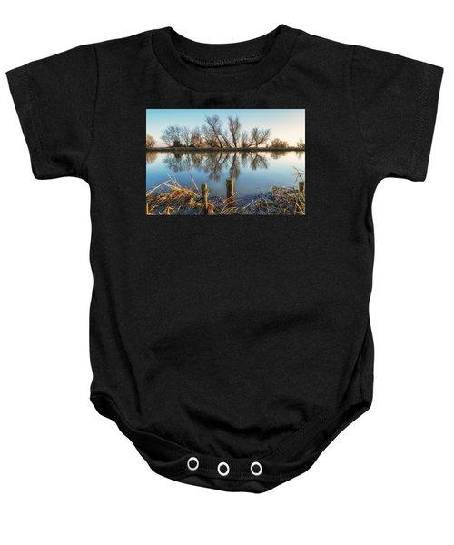 Riverside Trees Baby Onesie