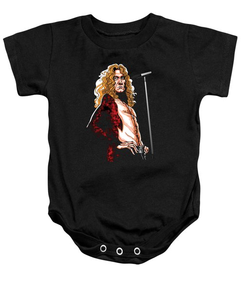 Robert Plant Of Led Zeppelin Baby Onesie by GOP Art