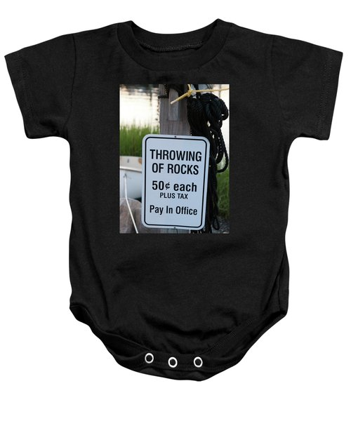 Rock Throwing Charge Baby Onesie