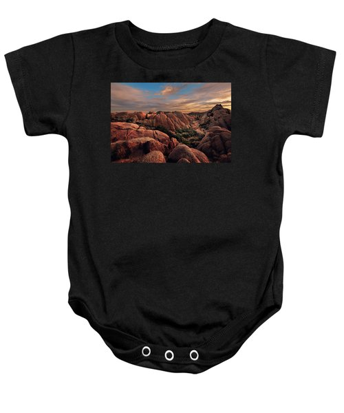 Rocks At Sunrise Baby Onesie