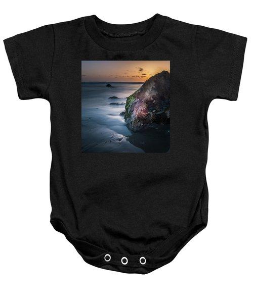 Rocks At Sunset Baby Onesie