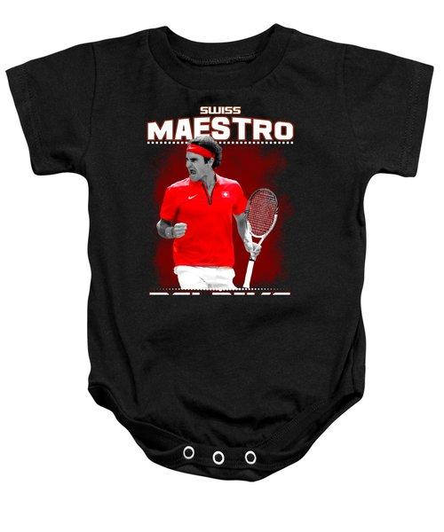 Roger Federer Maestro Baby Onesie