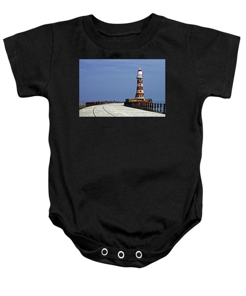 Roker Lighthouse Sunderland Baby Onesie