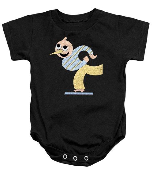 Roller Skater T-shirt Baby Onesie by Edward Fielding