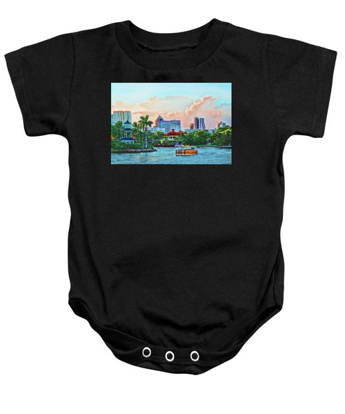 Rolling Down The New River Baby Onesie