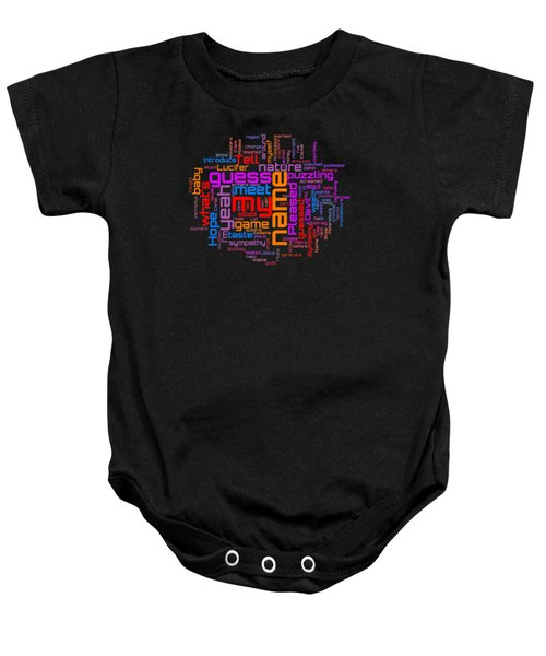 Rolling Stones - Sympathy For The Devil Lyrical Cloud Baby Onesie