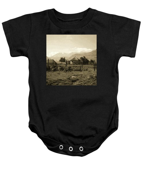 Rondavel In The Drakensburg Baby Onesie