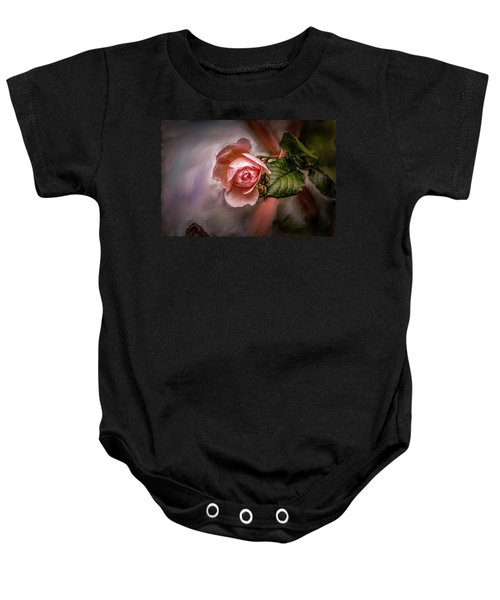 Rose On Paint #g5 Baby Onesie