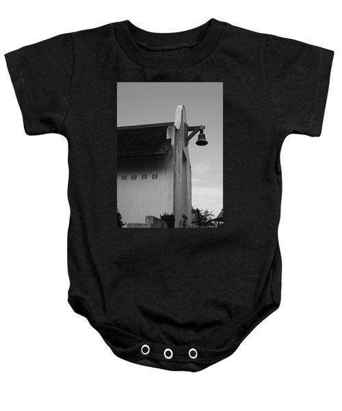 Rosemary Beach Post Office In Black And White Baby Onesie