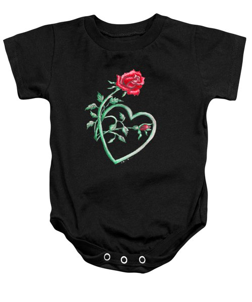 Roses Hearts Lace Flowers Transparency       Baby Onesie
