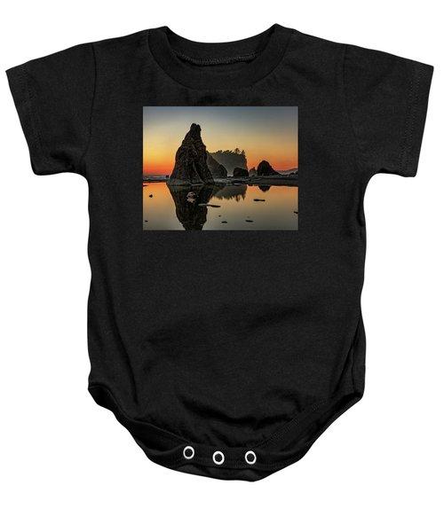 Ruby Beach At Sunset Baby Onesie