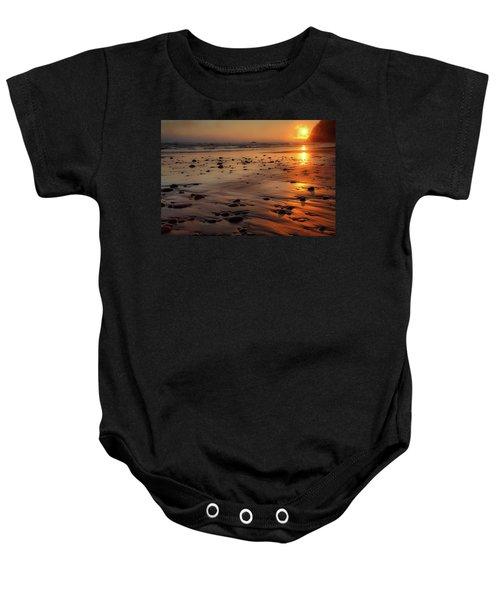 Ruby Beach Sunset Baby Onesie