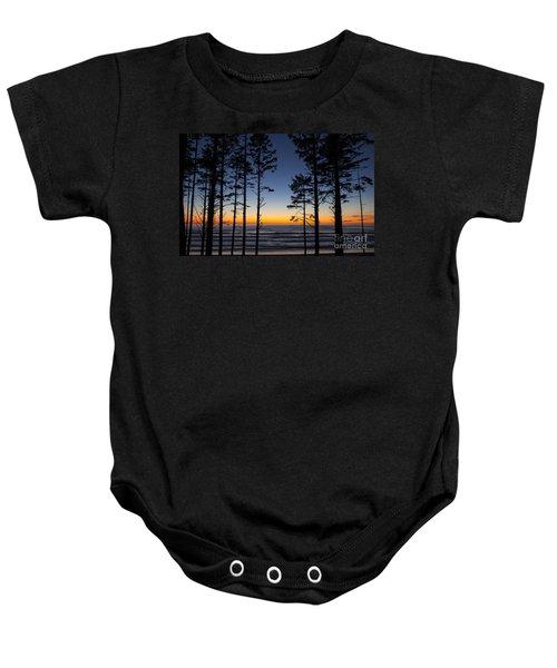 Ruby Beach Trees #4 Baby Onesie
