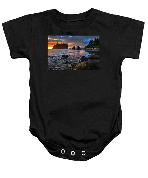 Ruby In The Rough At Sunset Baby Onesie