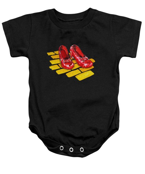 Ruby Slippers From Wizard Of Oz Baby Onesie