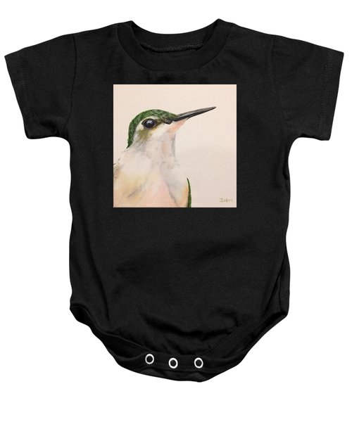 Ruby Throated Hummingbird Baby Onesie