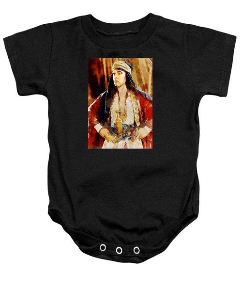 Rudolph Valentino As The Sheikh Baby Onesie