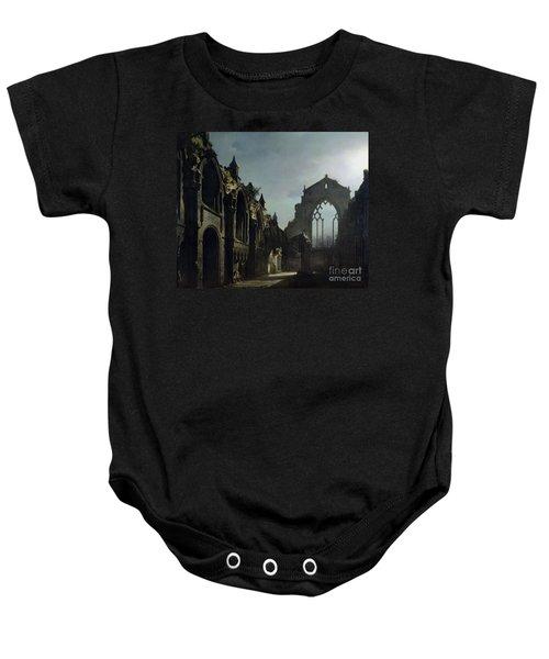 Ruins Of Holyrood Chapel Baby Onesie