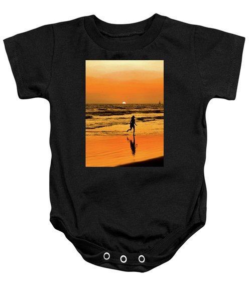 Run To The Sun Baby Onesie
