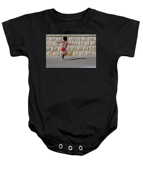 Running Child Baby Onesie
