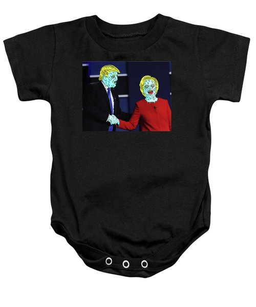 Baby Onesie featuring the painting Running Down The Same Cloth. by Chief Hachibi